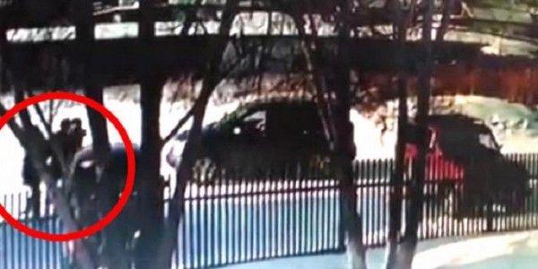 Похищение ребенка попало на видео