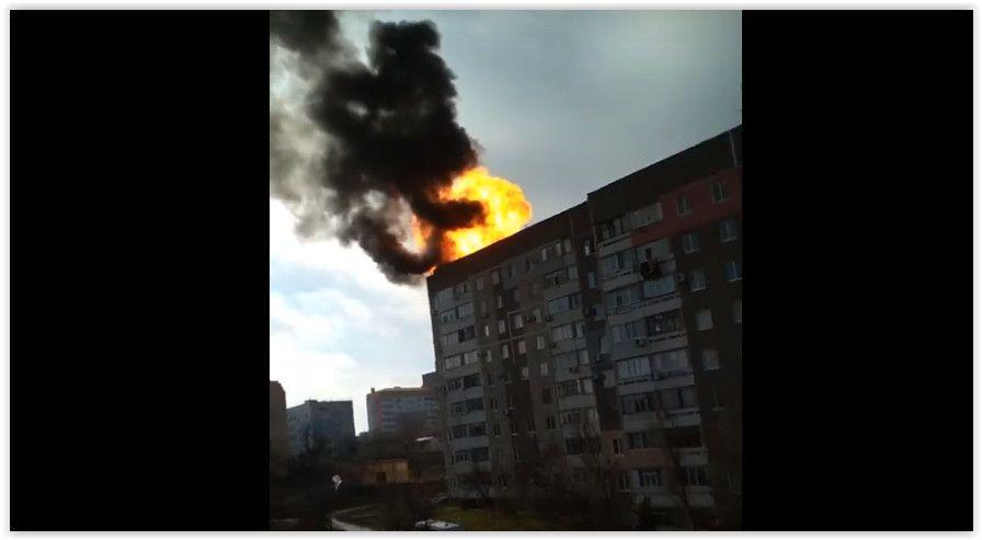 В Щёлкино на крыше многоэтажки взорвались газовые баллоны
