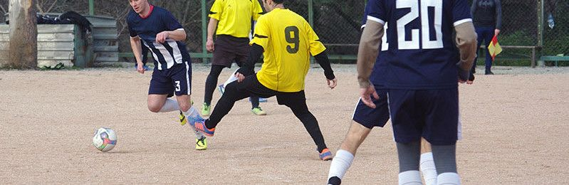 В Ялте прошли первые футбольные матчи в наступившем году