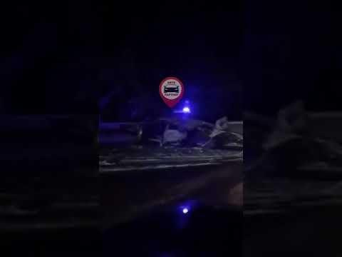 В районе Гаспры на трассе Ялта-Севастополь случилось ДТП - видео