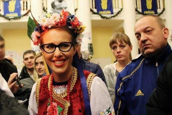 Собчак в Киеве объявили дурой