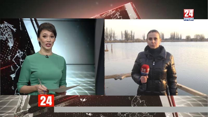 Как празднуют Крещение Господне на Севере Крыма? Прямое включение корреспондента телеканала «Крым 24» Евгении Довжик