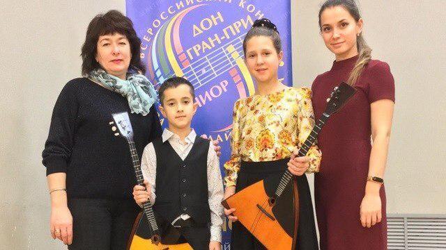 Юные балалаечники из Феодосии стали лауреатами конкурса в Ростове-на-Дону