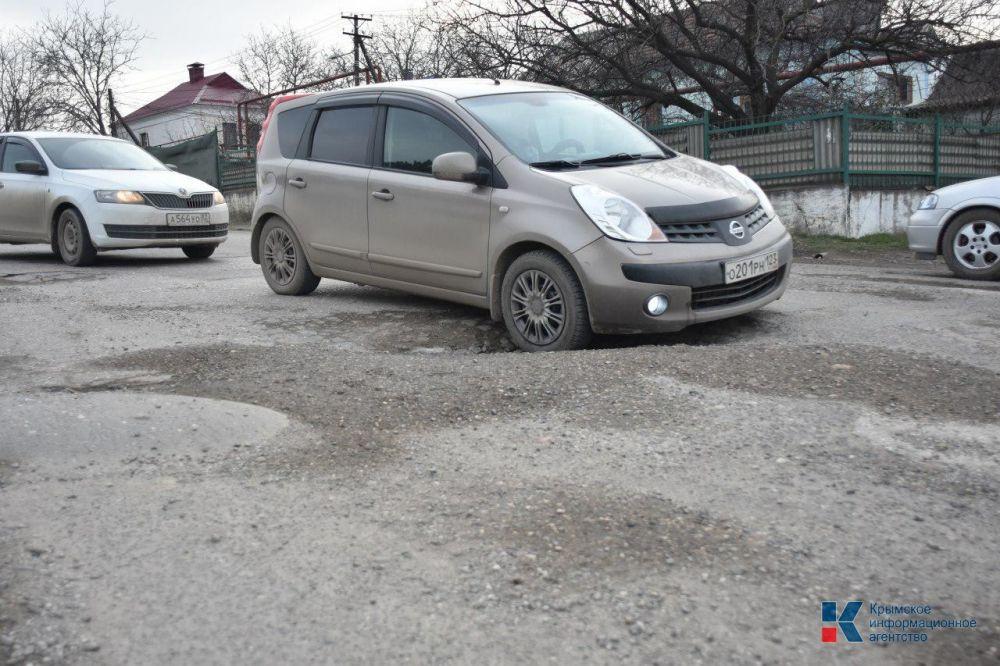 Улица Ломоносова в Симферополе после ремонта превратилась в полосу препятствий