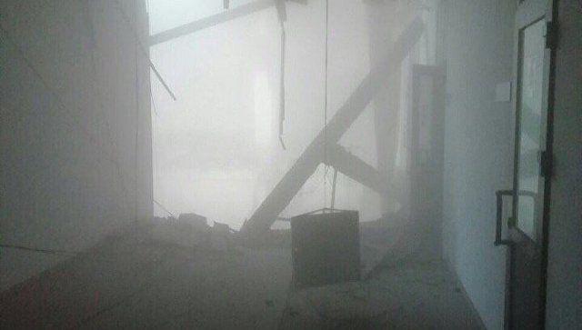 Момент обрушения перекрытий в здании университета в Петербурге попал на видео