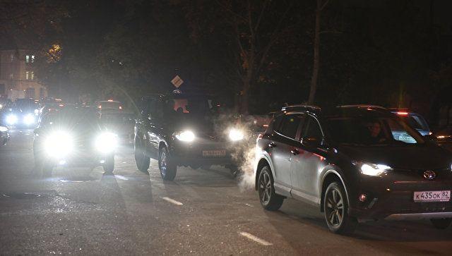 """Тянучка"" на 8 километров: под Симферополем затруднено движение транспорта"