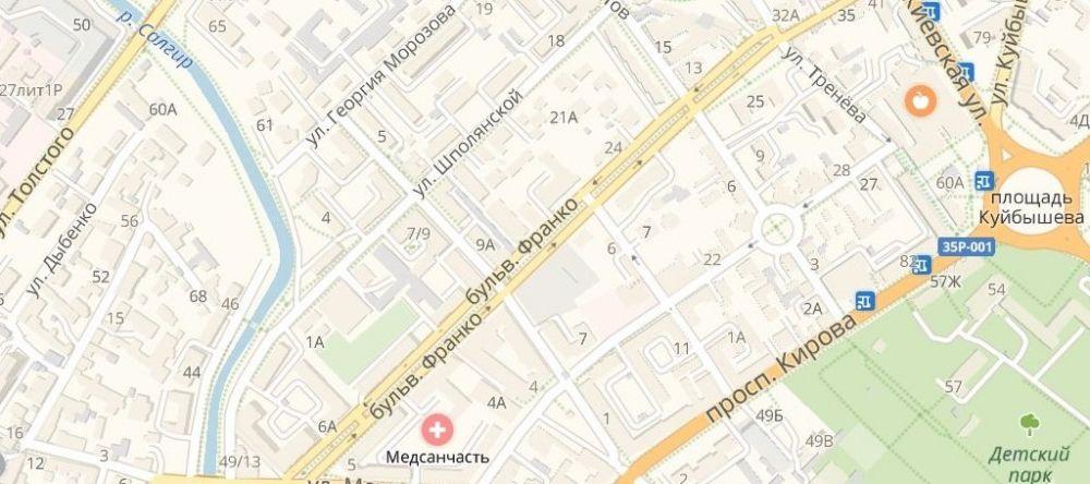 В Симферополе перекрыли бульвар Франко для ремонтных работ