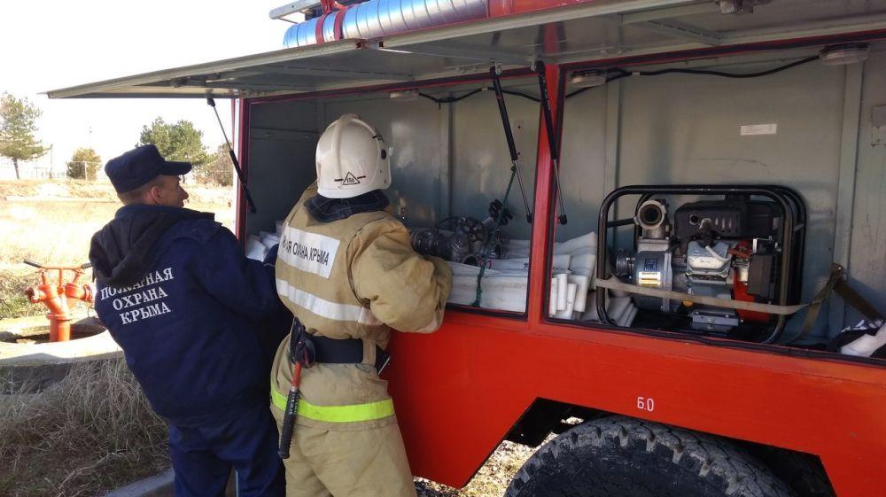 Специалисты ГКУ РК «Пожарная охрана Республики Крым» провели пожарно-тактическое занятие на потенциально опасном объекте