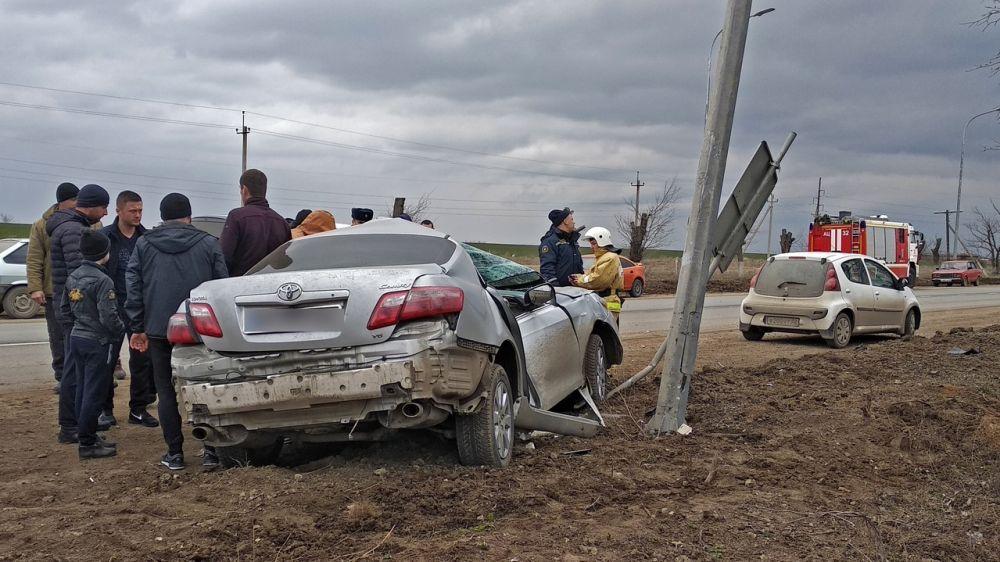 Специалисты «КРЫМ-СПАС» оказали помощь в ликвидации последствий ДТП в пгт. Первомайское