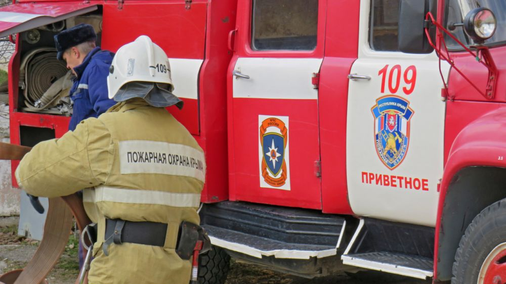 Сотрудники ГКУ РК «Пожарная охрана Республики Крым» приняли участие в пожарно-тактических учениях на базе учебного учреждения