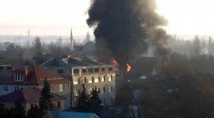 В Саках горел жилой дом