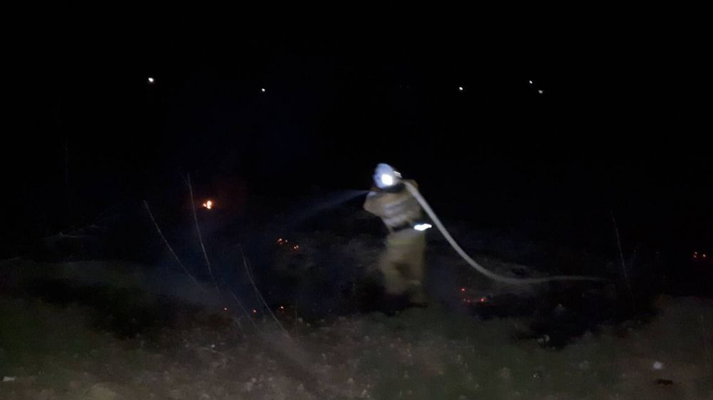 Сергей Шахов: За прошедшие сутки сотрудники ГКУ РК «Пожарная охрана Республики Крым» ликвидировали 7 пожаров, связанных с возгоранием сухой растительности