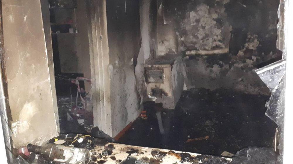 Крымские огнеборцы ликвидировали пожар в частном жилом доме в Бахчисарайском районе