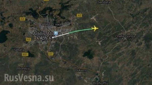 В Эфиопии разбился Боинг 737