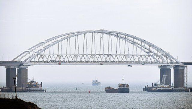 Под флагом Либерии: в Керченском проливе село на мель судно с металлом из Украины