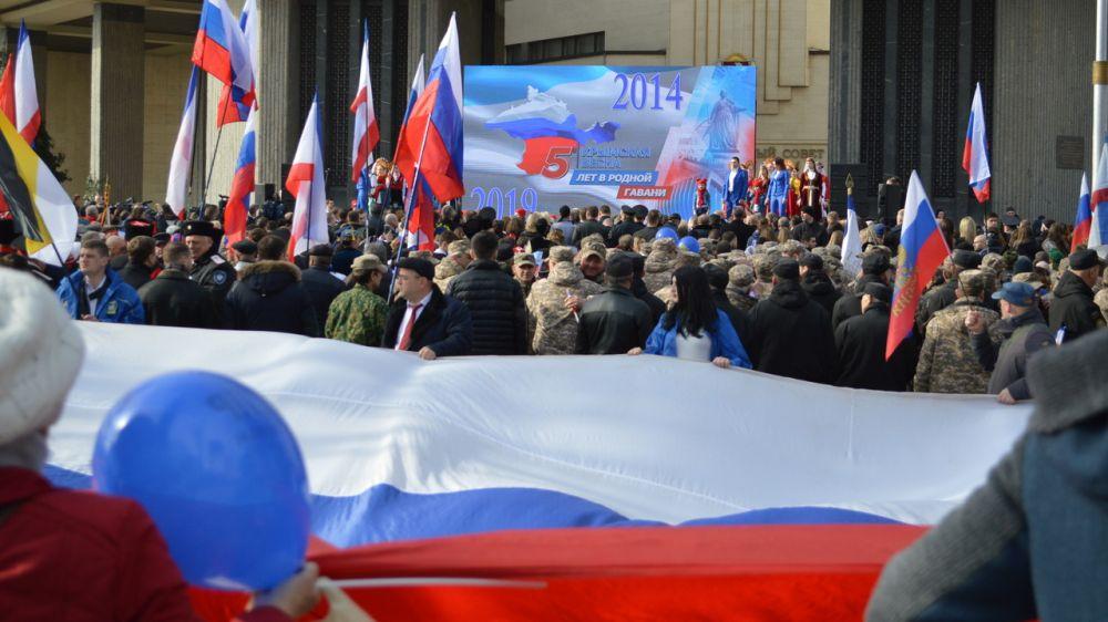 Праздничные мероприятий, посвященные 5-й годовщине Общекрымского референдума, прошли во всех образовательных организациях Крыма