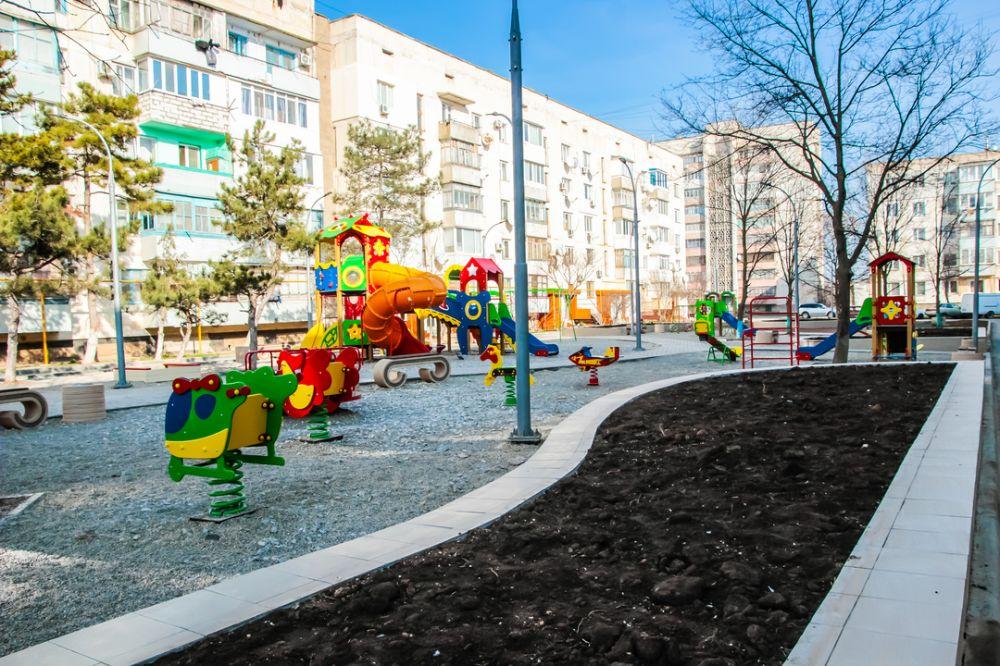 МинЖКХ РК: В городе Саки в 2018 году благоустроили общественные и дворовые территории на 25 млн рублей