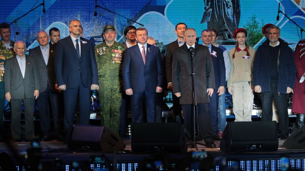 Владимир Путин выступил на концерте в честь пятой годовщины Крымской весны