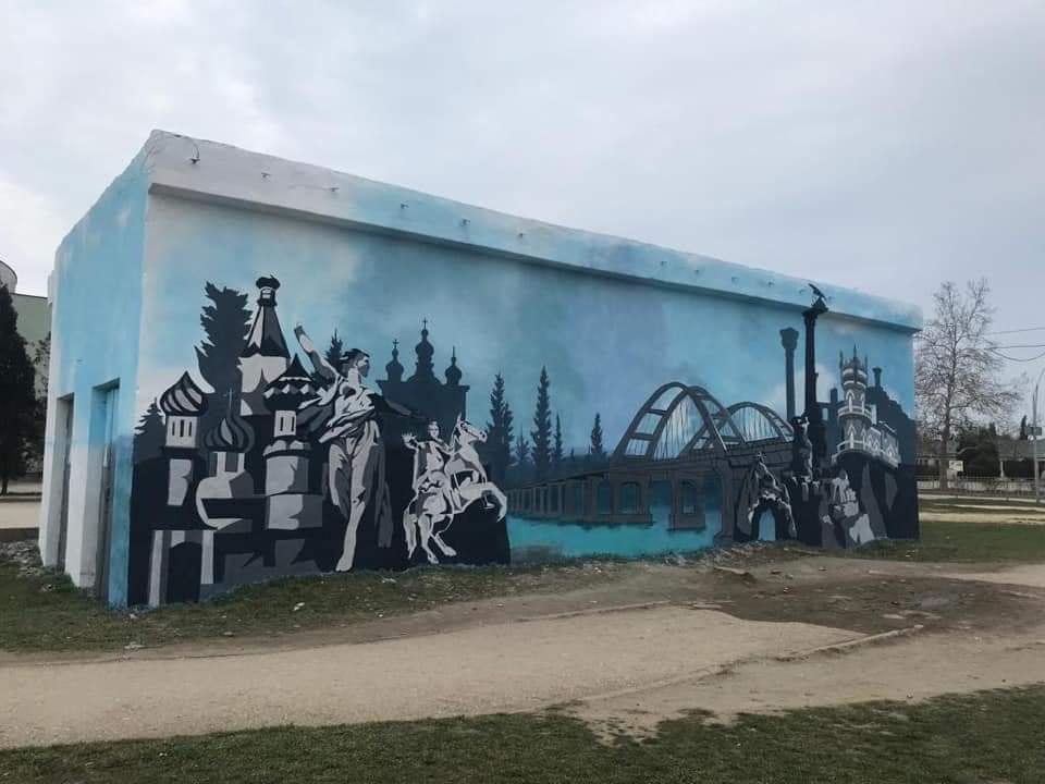 «Крымская весна» запечатлена в граффити