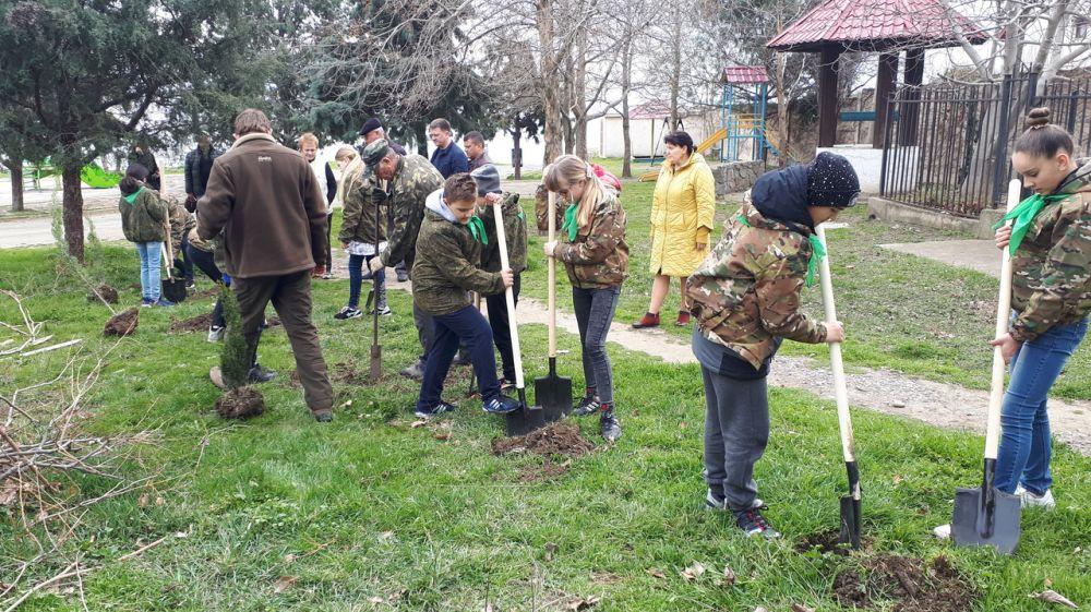 Минприроды Крыма провело закладку аллеи в парке села Солнечногорское городского округа Алушта