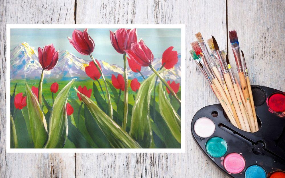 В дворце-замке «Ласточкино гнездо» работает выставка «Дети рисуют Крымскую весну…!»