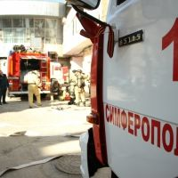 Крымские огнеборцы ликвидировали условный пожар в 20-ти этажном здании
