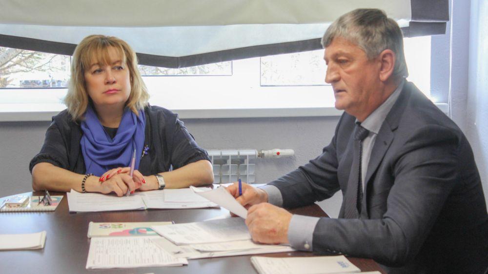 Алла Пашкунова с рабочим визитом посетила город Саки