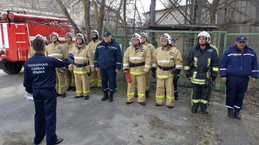 В городском округе Феодосия были проведены пожарно-тактические учения сотрудников ГКУ РК «Пожарная охрана Республики Крым»