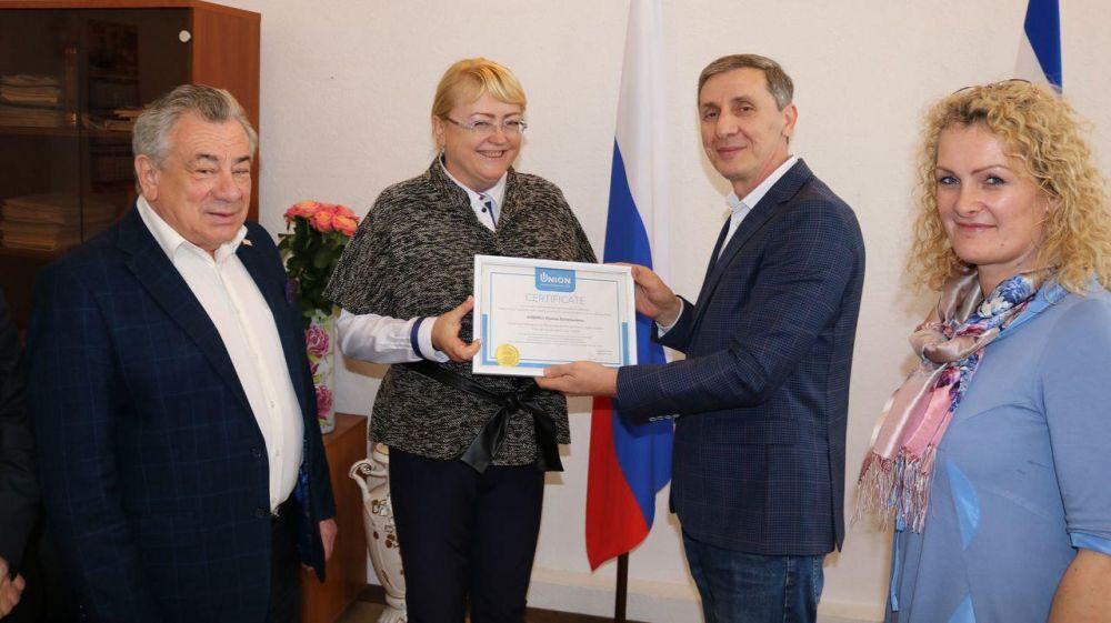 Кивико стала почетным президентом Международного делового клуба «Союз»