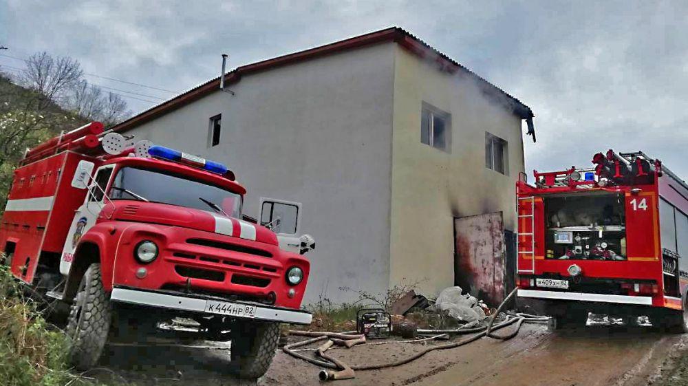 Огнеборцы ГКУ РК «Пожарная охрана Республики Крым» приняли участие в ликвидации пожара в городском округе Алушта