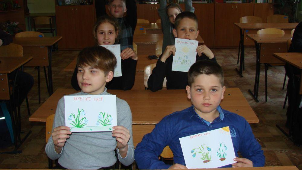 Члены школьного лесничества «Крокус» провели природоохранную акцию «Берегите подснежники»