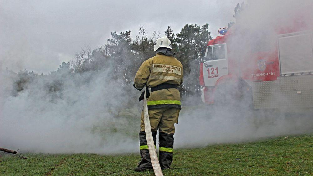 Сергей Шахов: Крымские спасатели ликвидировали условный лесной пожар в Симферопольском районе