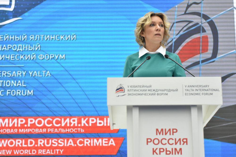 В международном сообществе растёт востребованность объективного взгляда на реальные события в Крыму, — Захарова