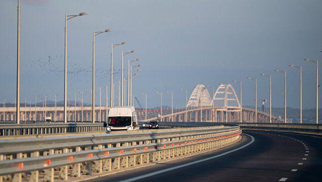 За год по Крымскому мосту проехали 5 миллионов машин