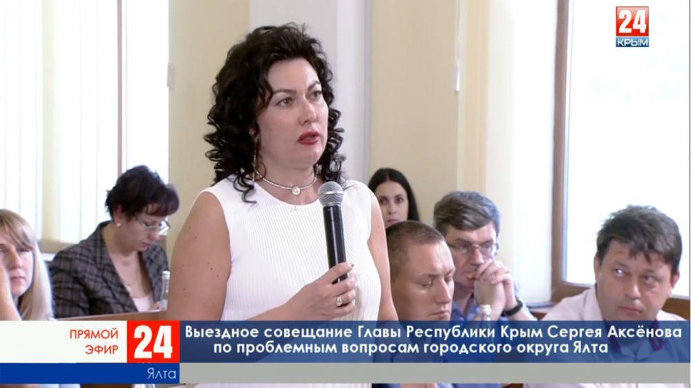 Арина Новосельская: Коммуникации муниципалитета Ялты, прилегающие к республиканским учреждениям культуры, остро нуждаются в капитальном ремонте