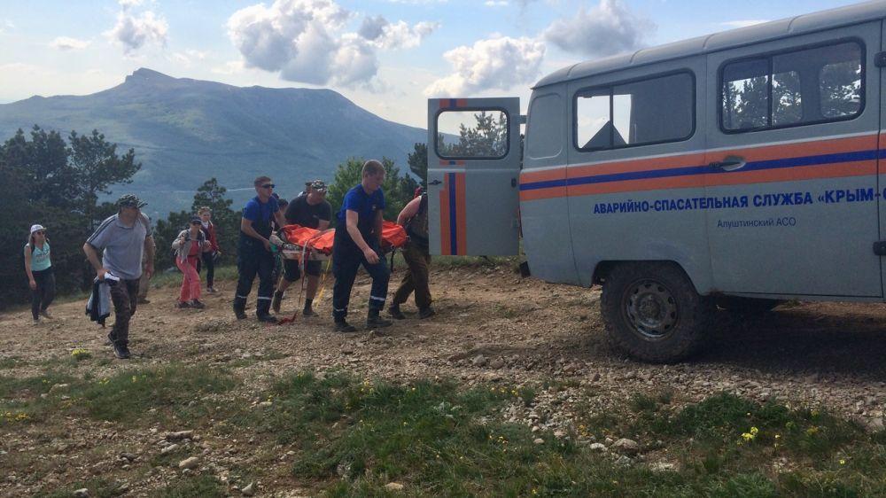 Специалисты «КРЫМ-СПАС» продолжают оказывать помощь в горно-лесной зоне полуострова
