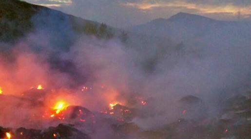 Спасатели потушили под Коктебелем горевшую свалку
