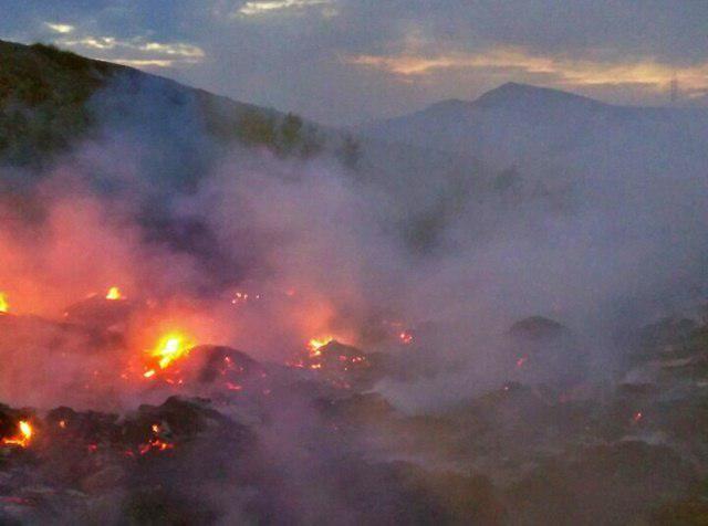 Огнеборцы ликвидировали крупное возгорание в посёлке Коктебель