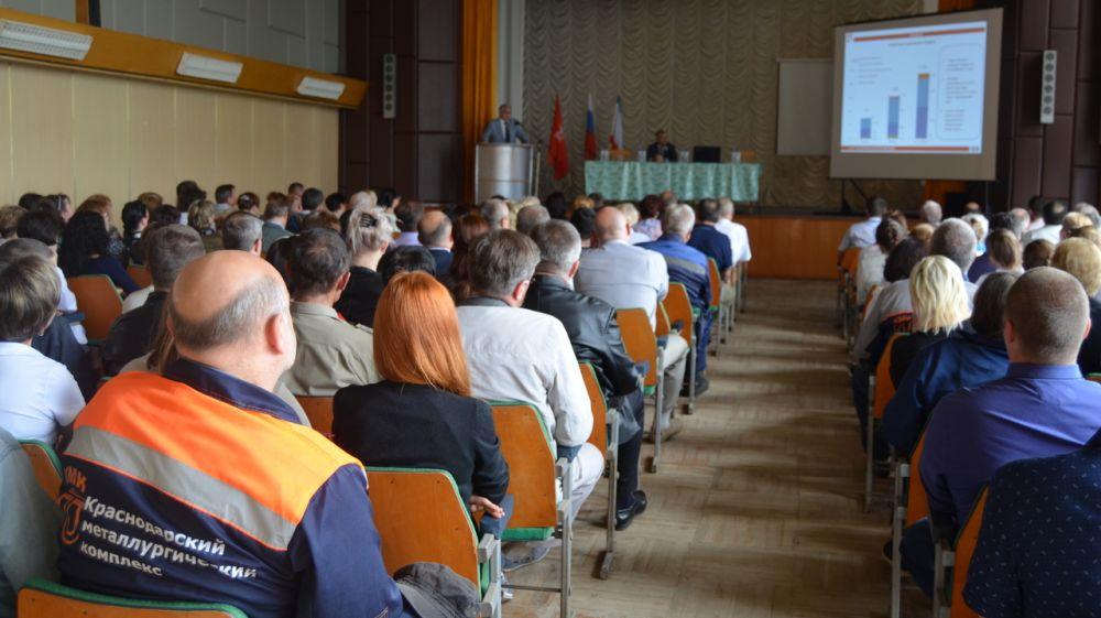 Андрей Васюта: Трудовой коллектив Керченского металлургического завода имеет большой потенциал для освоения производства новых видов продукции
