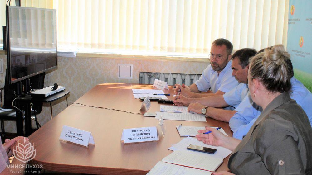 Глава Минсельхоза Крыма принял участие в видеоконференцсвязи по вопросу оформления ветеринарных документов в системе «Меркурий»