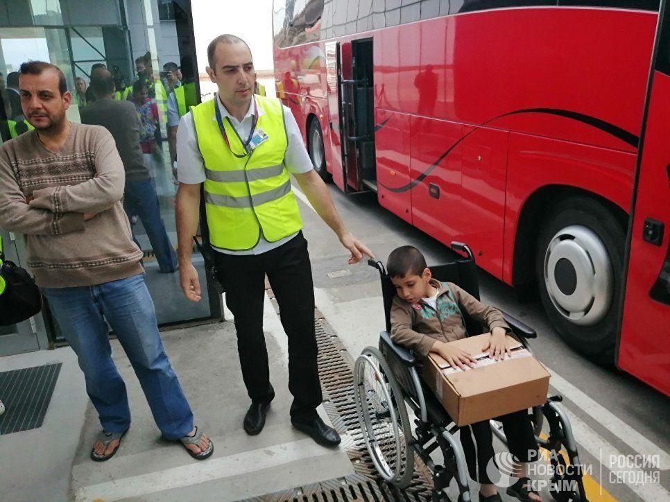 В Крым на реабилитацию прибыли дети из Сирии