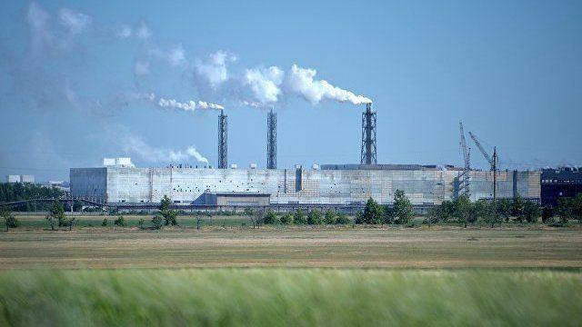 Концентрация хлорида водорода в атмосферном воздухе городского округа Армянск ниже предела обнаружения