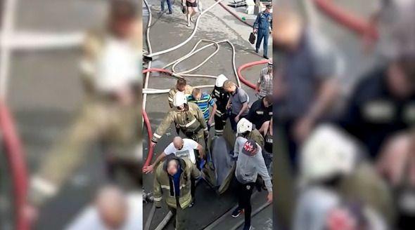 Опубликовано видео спасения дельфинов на пожаре в Севастополе