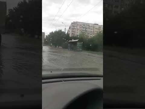 В Симферополе автомобильная дорога превратилась в реку