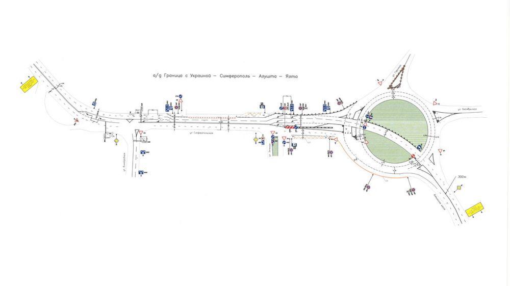 В Алуште начались работы по оптимизации движения в районе автовокзала