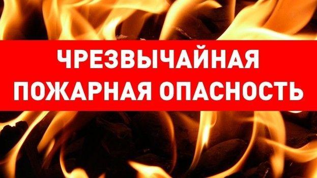 МЧС: Экстренное предупреждение о чрезвычайной пожарной опасности в Крыму 13-16 июня