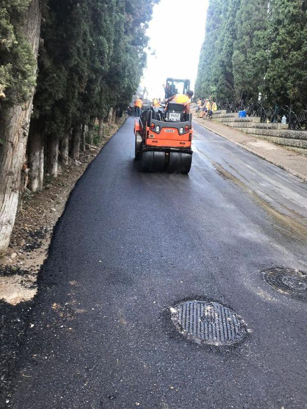 В Большой Ялте активно ведётся ремонт дорог - власти