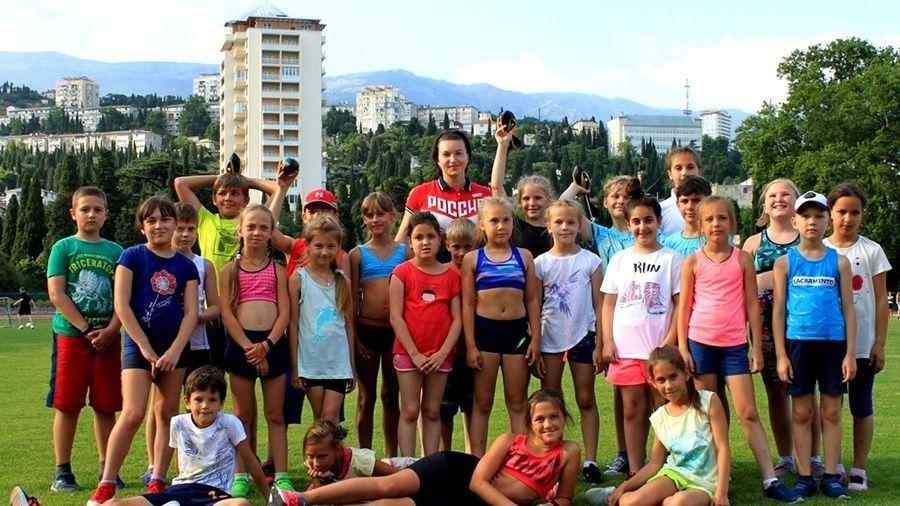 Вера Ребрик провела мастер-класс для юных ялтинских легкоатлетов