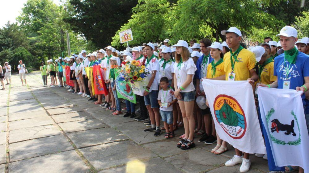 В Евпатории состоялось торжественное открытие Межрегионального слёта юных экологов - 2019