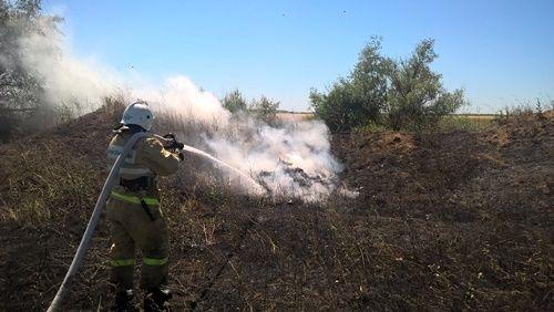Огнеборцы потушили пожар на поле пшеницы в Кировском районе